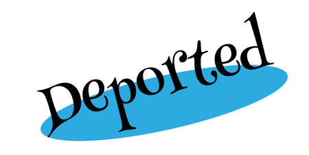 Deported rubber stamp Stock Photo