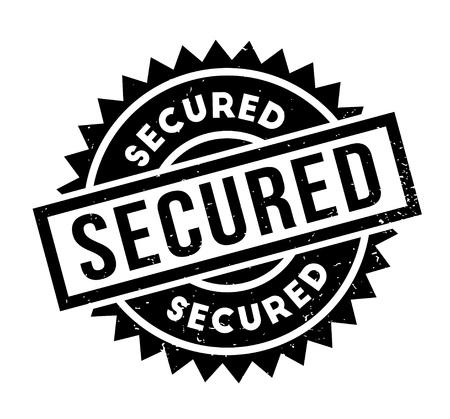 reserved: Secured rubber stamp
