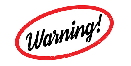 Warning rubber stamp. Grunge design with dust scratches. Effects can be easily removed for a clean, crisp look. Color is easily changed.