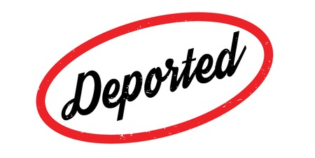 Deported rubber stamp. Grunge design with dust scratches. Effects can be easily removed for a clean, crisp look. Color is easily changed.