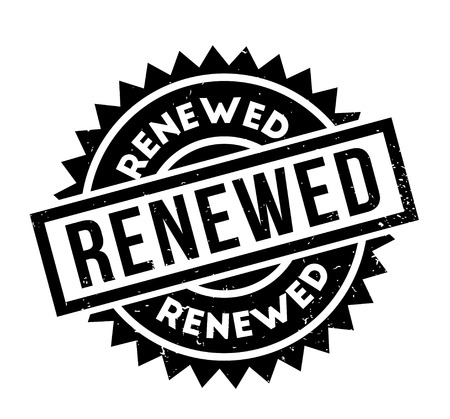 re do: Renewed rubber stamp Stock Photo