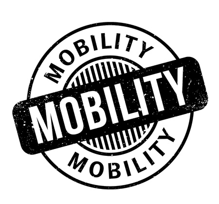 mobility: Mobility rubber stamp Illustration