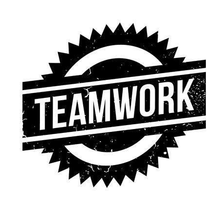 Teamwork rubber stamp Illustration