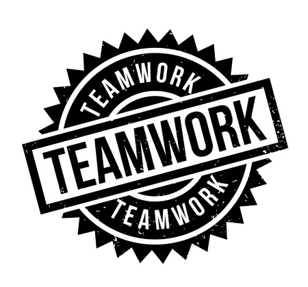 Teamwork rubber stamp Illustration