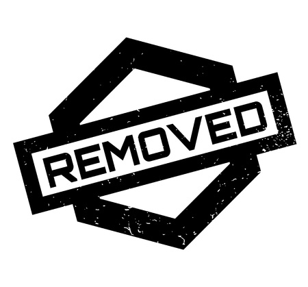 Removed rubber stamp Illustration
