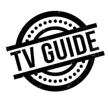 Tv Guide rubber stamp