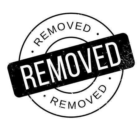 Removed rubber stamp Illustration