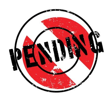 awaiting: Pending rubber stamp Illustration