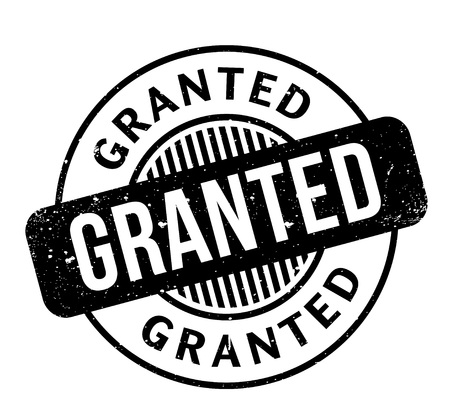 granting: Granted rubber stamp Illustration