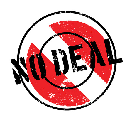 to compromise: No Deal rubber stamp. Grunge design with dust scratches. Effects can be easily removed for a clean, crisp look. Color is easily changed.