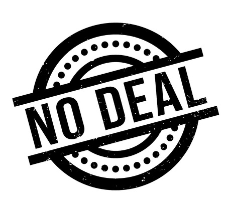 bargaining: No Deal rubber stamp. Grunge design with dust scratches. Effects can be easily removed for a clean, crisp look. Color is easily changed.