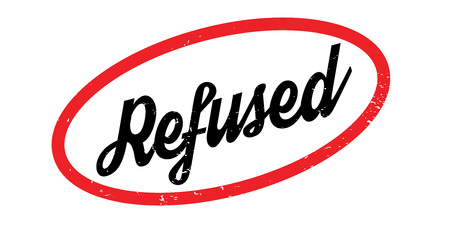 denying: Refused rubber stamp. Grunge design with dust scratches. Effects can be easily removed for a clean, crisp look. Color is easily changed.