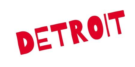 detroit: Detroit rubber stamp