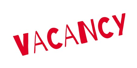 Vacancy rubber stamp Ilustrace