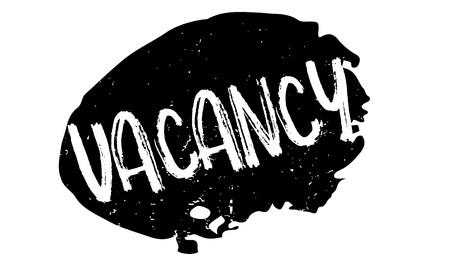Vacancy rubber stamp Иллюстрация