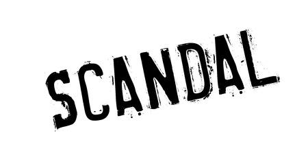 Scandal rubber stamp Stok Fotoğraf - 85357563