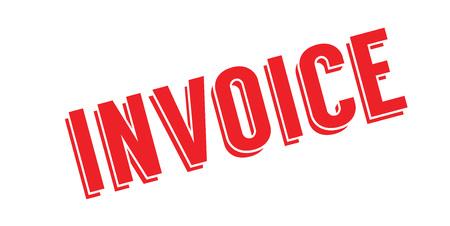 Invoice rubber stamp Ilustração
