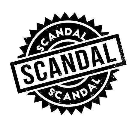 Scandal rubber stamp Stok Fotoğraf - 85357887