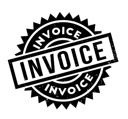 Invoice rubber stamp Illustration