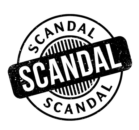 defamation: Scandal rubber stamp. Grunge design with dust scratches. Effects can be easily removed for a clean, crisp look. Color is easily changed.