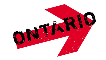 Ontario rubber stamp Illustration