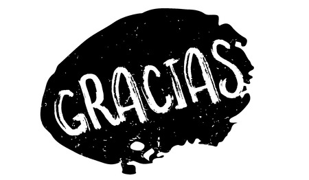 Gracias rubber stamp Illustration