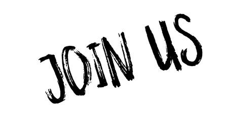 Join Us rubber stamp 版權商用圖片 - 85357954