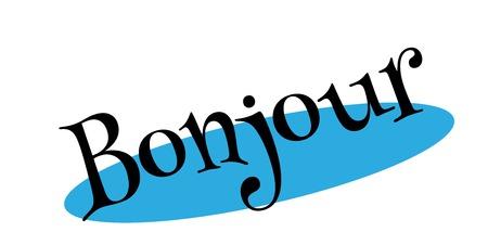 Bonjour rubber stamp Illusztráció