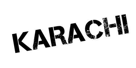 Karachi rubber stamp Illustration