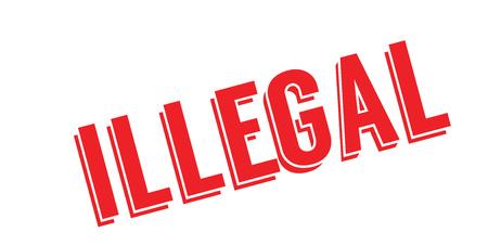 Illegal rubber stamp Illustration