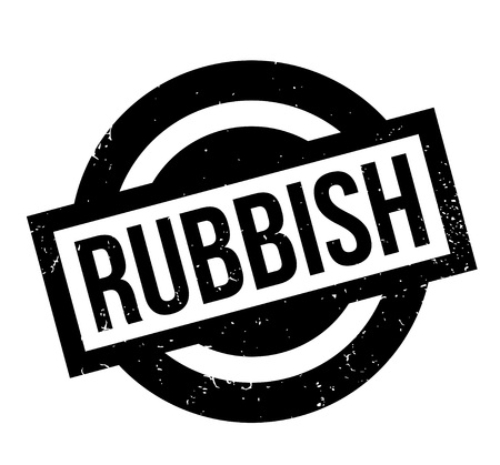 Rubbish rubber stamp. Illustration