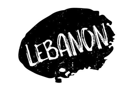 beirut: Lebanon rubber stamp Illustration