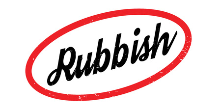 Rubbish rubber stamp Illustration