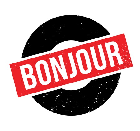 Bonjour rubber stamp Illustration