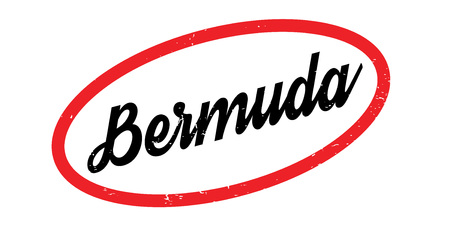Bermuda rubber stamp inside red circle