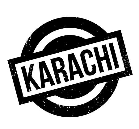 Karachi rubber stamp. Illustration