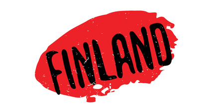 Finland rubber stamp.