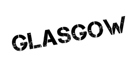 Glasgow rubber stamp. Illustration