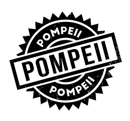 Pompeii rubber stamp. Illustration