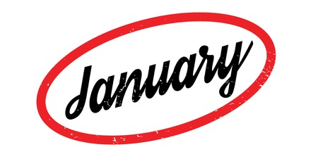 planner: January rubber stamp