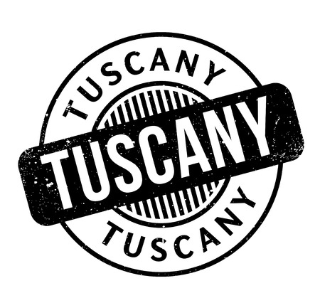 Tuscany rubber stamp.
