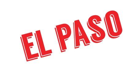 El Paso rubber stamp