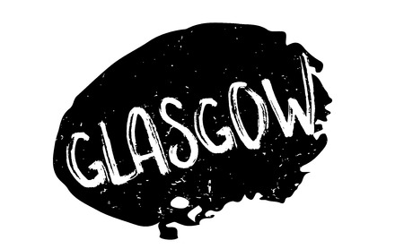 british culture: Glasgow rubber stamp. Illustration