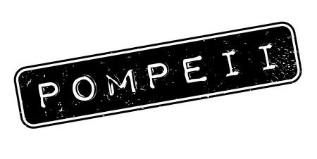 Pompeii rubber stamp. Vettoriali