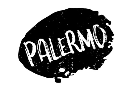 Palermo rubber stamp illustration.
