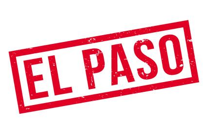 El Paso rubber stamp illustration.