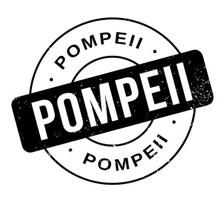 Pompeii rubber stamp illustration. Vettoriali