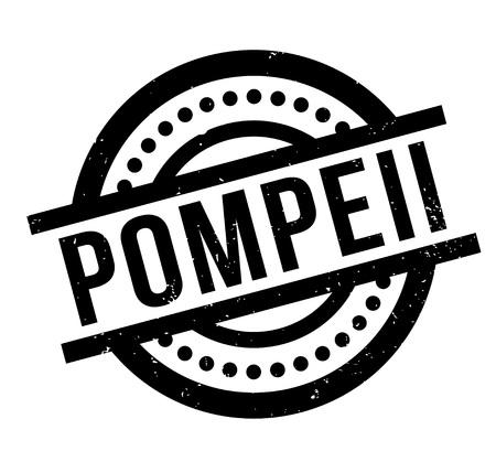 Pompeii rubber stamp Vector illustration. Vettoriali
