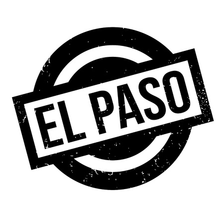 El Paso rubber stamp in black and white design, isolated on white background