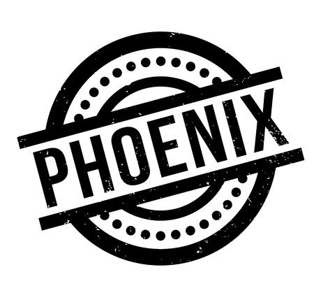 Phoenix rubber stamp Illustration